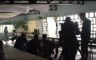 Se rueda en el campamento Alto del León la película «La Llamada»